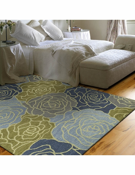 Rose Rug in Blue