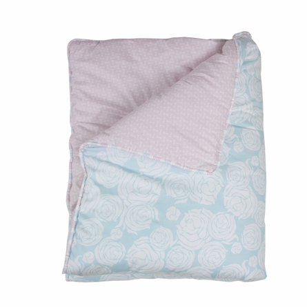 Rose Sea Reversible Crib Quilt