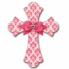 Rosebud Brocade Cross Rose Wall Plaques