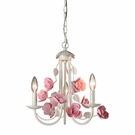 Rosebud Mini Ivory Chandelier