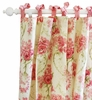 Roses for Bella Floral Curtain Panels - Set of 2