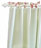 Roses for Bella Green Stripe Curtain Panels - Set of 2