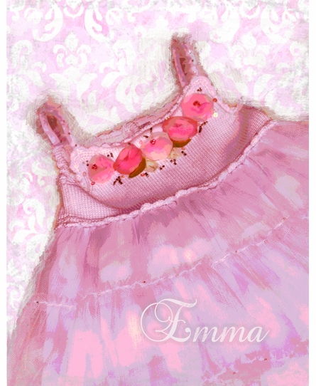 Rosette Dress Personalized Framed Art Print
