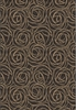 Rosette Rug in Black and Brown