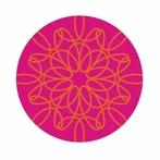 Round Ribbon Rug in Pink and Orange