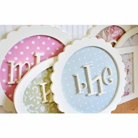 Round Scalloped Monogram Wall Plaque