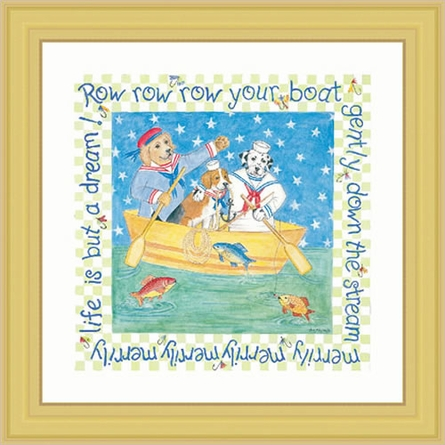 Row Your Boat Framed Lithograph