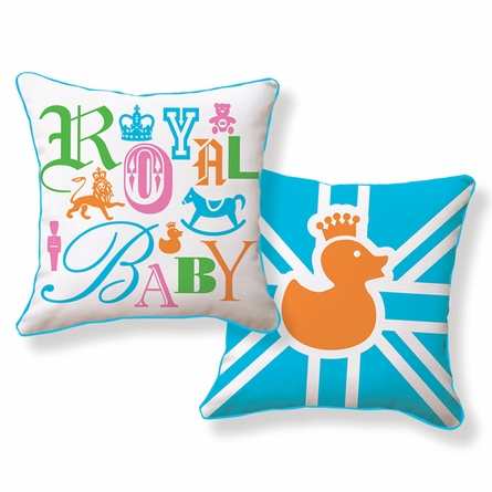 Royal Baby Reversible Throw Pillow