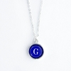 Royal Color Personalized Initial Necklace