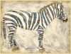 Royal Zebra Canvas Reproduction