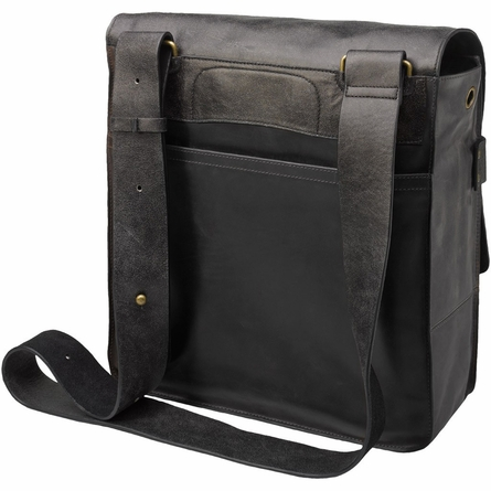 Rubicon Rucksack Diaper Bag in Distressed Black Leather