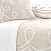 Ruched Linen Platinum and White Duvet Cover