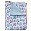 Blue Small Moroccan Piped Baby Blanket