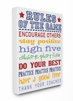 Rules of the Game Blue Canvas Wall Art