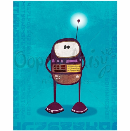 Rumbling Robots Barry Canvas Wall Art