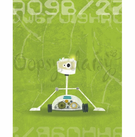 Rumbling Robots Reggie Canvas Wall Art
