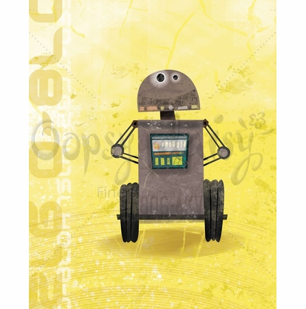Rumbling Robots Sal Canvas Wall Art