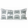 Rush Hour in Gray Organic Cotton Playful Pillow
