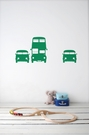 Rush Hour in Green Kids Wall Stickers