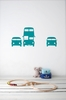 Rush Hour in Turquoise Kids Wall Stickers