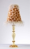 Rust Giraffe Lamp
