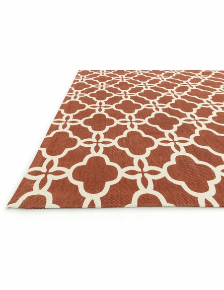 Rust Lattice Geo Rug