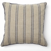 Rustic Navy Stripe Throw Pillow