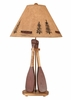 Rustic Paddle Table Lamp