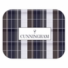 Rustic Plaid Personalized Mouse Pad