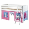 Easy Rider Low Loft Bed with Blue and Pink Tent