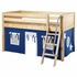 Easy Rider Low Loft Bed with Blue and Red Tent