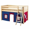 Easy Rider Low Loft Bed with Blue and White Tent