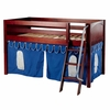 Easy Rider Low Loft Bed with Blue Pennant Tent