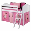 Ryan Low Loft Bed with Hot Pink Tent
