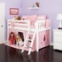 Ryan Low Loft Bed with Light Pink Tent