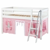 Easy Rider Low Loft Bed with Light Pink Tent