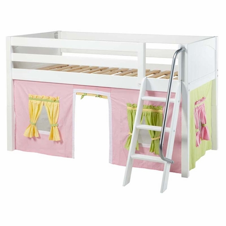 Ryan Low Loft Bed with Pastel Tent