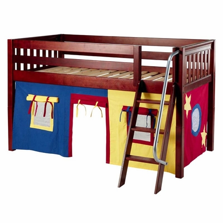 Ryan Low Loft Bed with Primary Tent