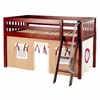 Ryan Low Loft Bed with Tan Tent