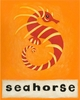S is for Seahorse Orange Canvas Reproduction