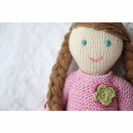Sadie Hand-Knit Organic Stuffed Toy