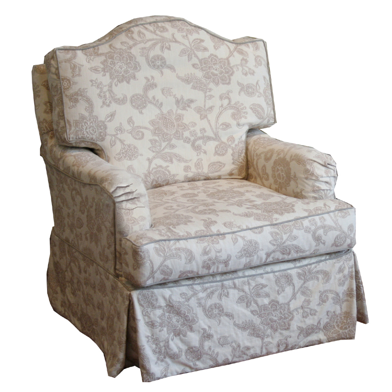 Sadie Slipcovered Swivel Glider Chair - RosenberryRooms.com