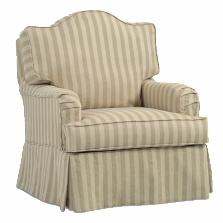 Sadie Slipcovered Swivel Glider Chair