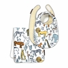 Safari Bibs and Burp Cloth Set