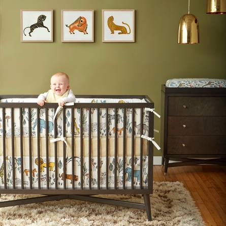Safari Canvas Crib Skirt