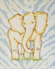 Safari Elephant Hand Painted Canvas