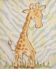 Safari Giraffe Hand Painted Canvas