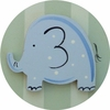 Safari Green Elephant Drawer Knob