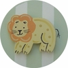 Safari Green Lion Drawer Knob