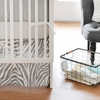 Safari in Gray Crib Skirt
